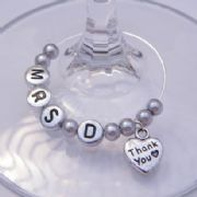 Thank You Personalised Wine Glass Charm